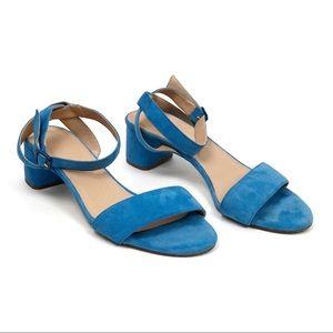 J. Crew | Lottie Blue Suede Strappy Sandal